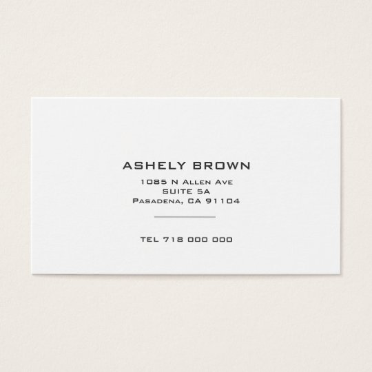 Standard minimalist business card zazzle standard minimalist business card reheart Choice Image