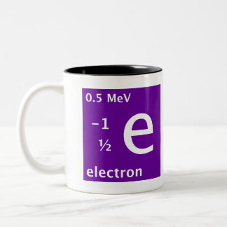 Standard Model (electron) Two-Tone Coffee Mug