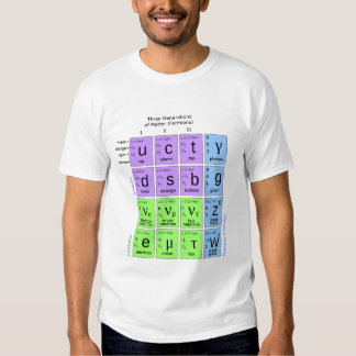 Standard Model Of Elementary Particles Tee Shirt