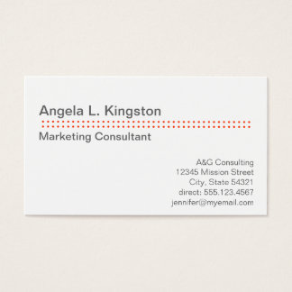Standard modern micro dot cherry red gray custom business card