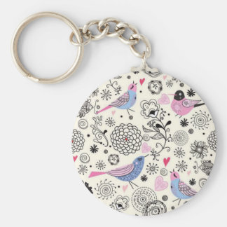 standard of flowers and birds keychain