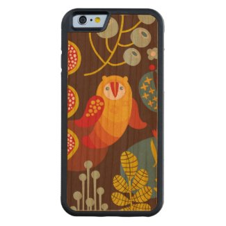 standard of flowers and birds Slim Maple Wood Case Carved® Cherry iPhone 6 Bumper