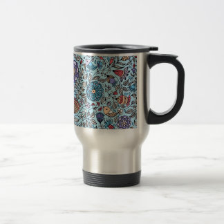standard of flowers and birds travel mug