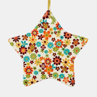standard of flowers ceramic ornament