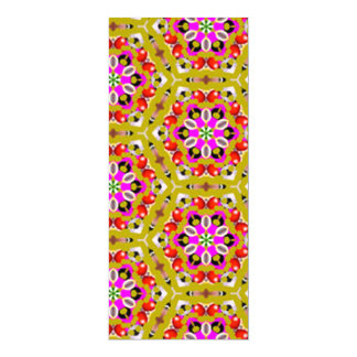 standard of flowers geometric forms card