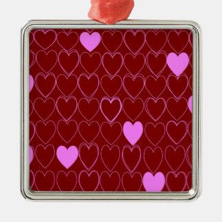 standard of hearts metal ornament