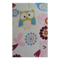standard of owls and birds stationery