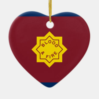 Standard Of The Salvation Army, religious flag Double-Sided Heart Ceramic Christmas Ornament