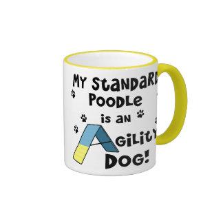 Standard Poodle Agility Dog Ringer Coffee Mug
