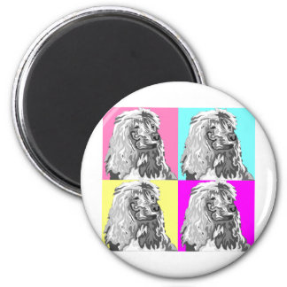 Standard Poodle Does Pastel 2 Inch Round Magnet