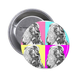 Standard Poodle Does Pastel Pinback Buttons
