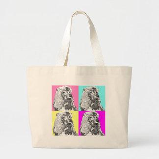 Standard Poodle Does Pastel Large Tote Bag