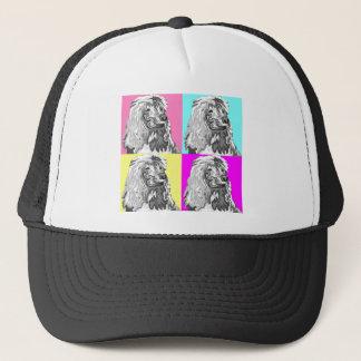 Standard Poodle Does Pastel Trucker Hat