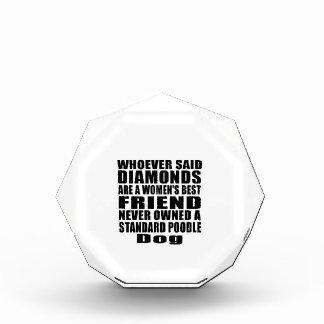 STANDARD POODLE DOG BEST FRIEND DESIGNS ACRYLIC AWARD