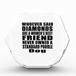 STANDARD POODLE DOG BEST FRIEND DESIGNS AWARD