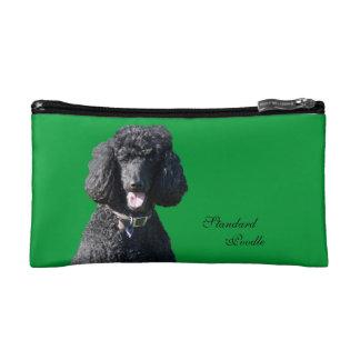 Standard Poodle dog black beautiful photo Cosmetics Bags