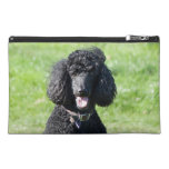 Standard Poodle dog black beautiful photo Travel Accessory Bag