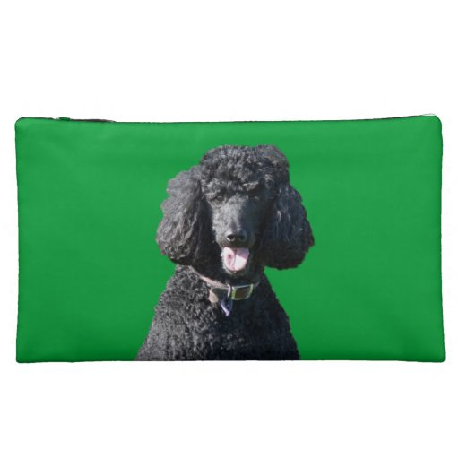 Standard Poodle dog black beautiful photo Cosmetic Bags