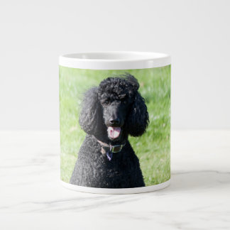 Standard Poodle dog black beautiful photo portrait Giant Coffee Mug
