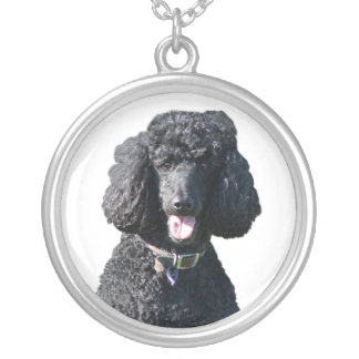 Standard Poodle dog black beautiful photo portrait Custom Necklace