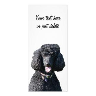 Standard Poodle dog black photo custom bookmark Rack Card