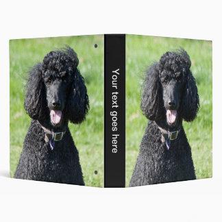 Standard Poodle dog photo album, binder, folder
