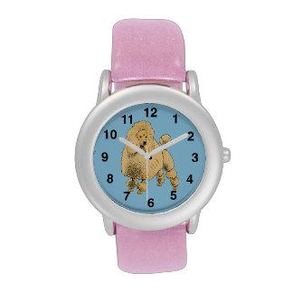 Standard Poodle glitter watch