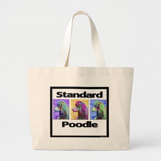 Standard Poodle Pop Art Large Tote Bag