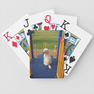 Standard Poodle Puppy Playground Playing Cards