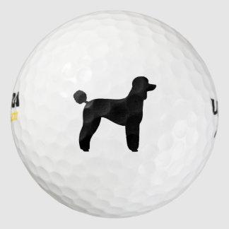 Standard Poodle Silhouette Golf Balls