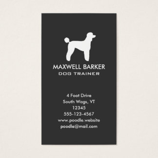 Standard Poodle Silhouette Vertical Business Card