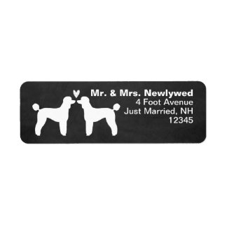 Standard Poodle Silhouettes with Heart Label