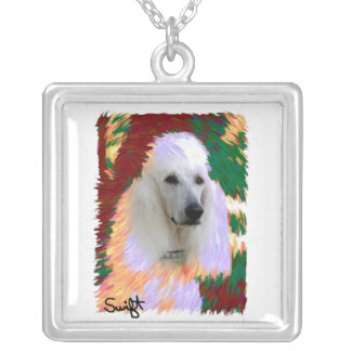 Standard Poodle Silver Plated Necklace