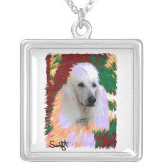 Standard Poodle Square Pendant Necklace