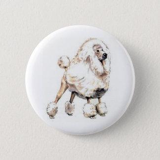 Standard Poodle White Button