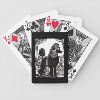 Standard Poodle with Black Border Playing Cards