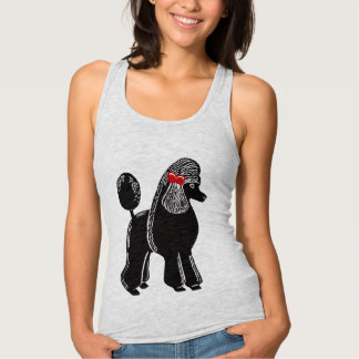 Standard Poodle Women's Slim Fit Racerback Top T Shirts