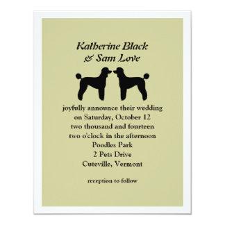 "Standard Poodles Wedding Invitation 4.25"" X 5.5"" Invitation Card"