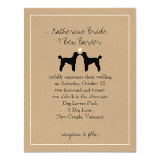 Standard Poodles Wedding Invitation
