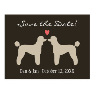 Standard Poodles Wedding Save the Date Post Cards