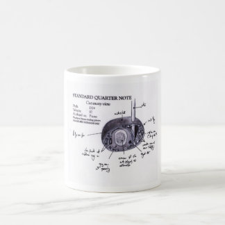 Standard Quarter note (cut-away view) Coffee Mug