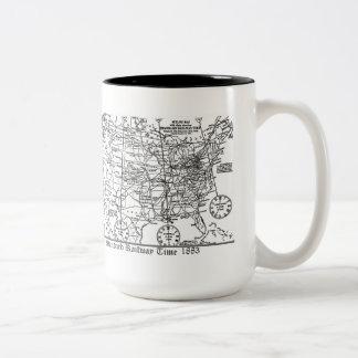 Standard Railway Time Zones 1883 Coffee Mugs
