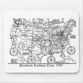 Standard Railway Time Zones 1883 Mouse Pad