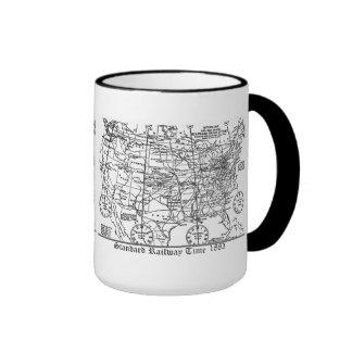 Standard Railway Time Zones 1883 Ringer Mug