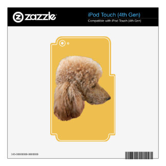 STANDARD RED POODLE SKINS FOR iPod TOUCH 4G
