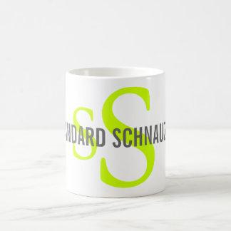 Standard Schnauzer Breed Monogram Design Classic White Coffee Mug