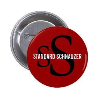 Standard Schnauzer Breed Monogram Design Pin
