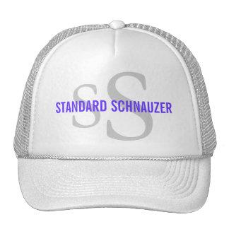Standard Schnauzer Breed Monogram Design Trucker Hat