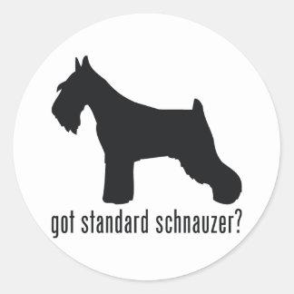 Standard Schnauzer Classic Round Sticker