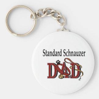 Standard Schnauzer Dad Gifts Keychain